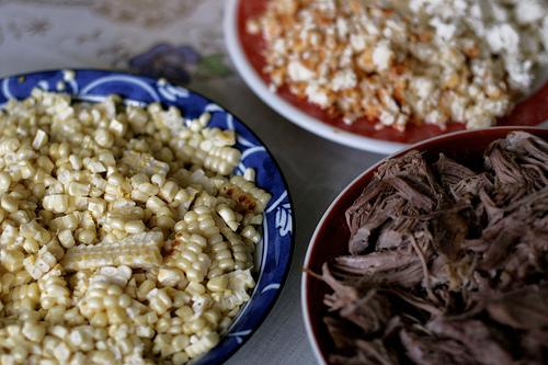 Corn, Pork and Enchilado Cheese
