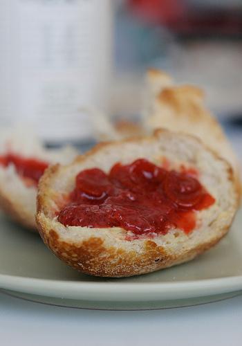 Raw butter with Strawberry Kumquat preserves