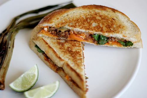 Tongue Grilled Cheese Sandwiches