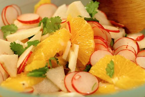 Jicama, Radish and Orange Salad