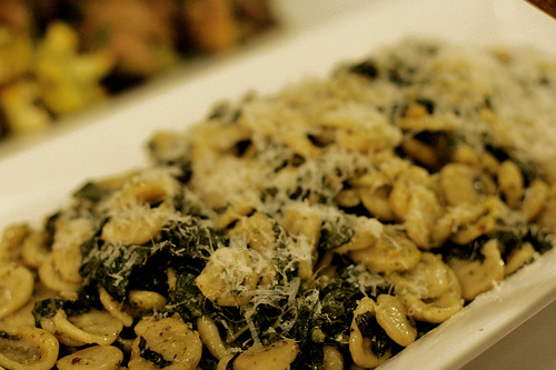 Pesto orecchiette with kale