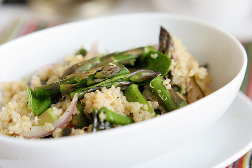 Warm Quinoa and Asparagus Salad