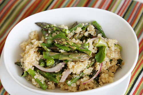 Warm Quinoa Salad and Apsaragus
