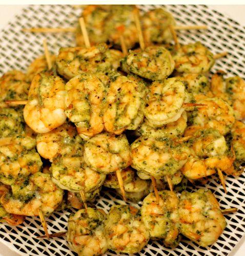 Charmoula Shrimp Skewers