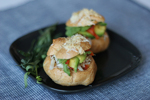 Gougeres with Dungeness Crab Salad