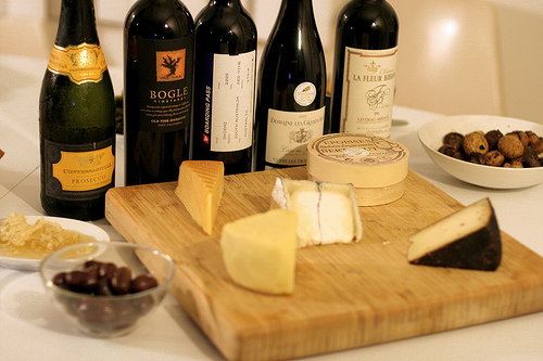 Wine & Cheese Party Set-up