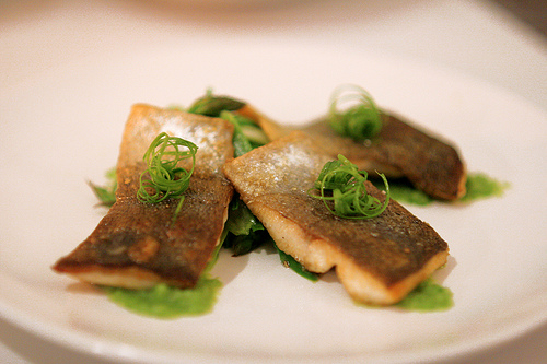 Trout Fillets with Asparagus, Celery & Chive Salad