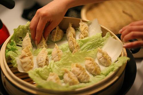 Steaming Scallop Chive Dumplings