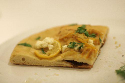 Meyer Lemon & Goat Cheese Pizza