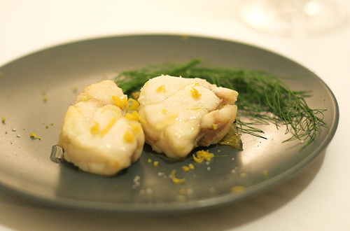 Butter Poached Monk Fish with Fennel Confit