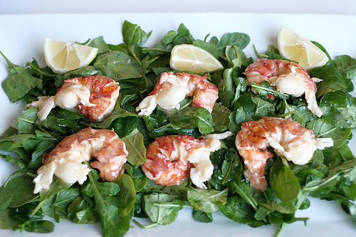 Butter Poached Lobster with Arugula Salad