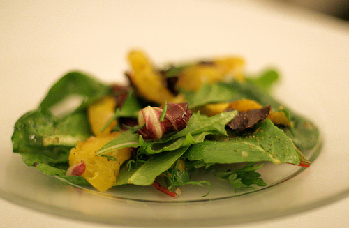 Salad with Roasted Acorn Squash, Dried Cranberries & Grilled Endives