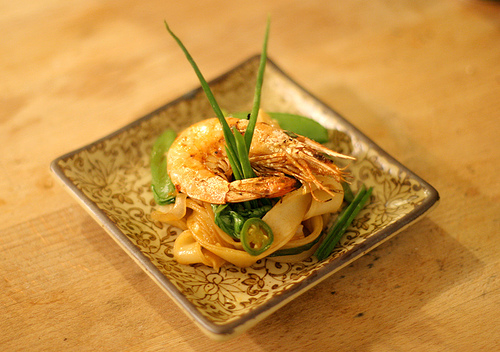Grilled New Caledonian Blue Prawn with Chow Fun Noodles
