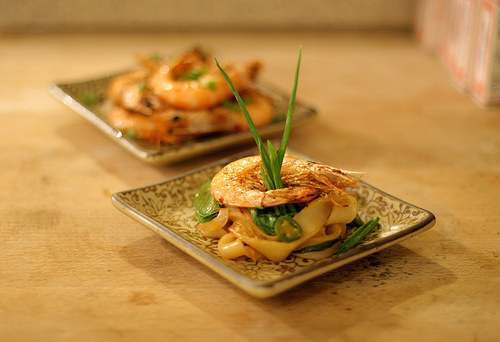 Grilled New Caledonian Blue Prawns with Chow Fun