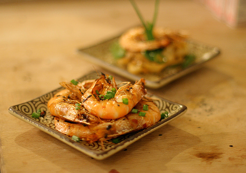 Grilled New Caledonian Blue Prawns