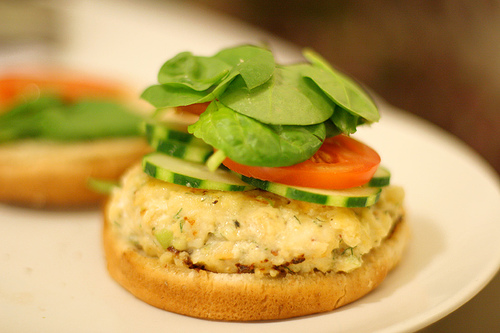 Scallop & Sea Bass Burger