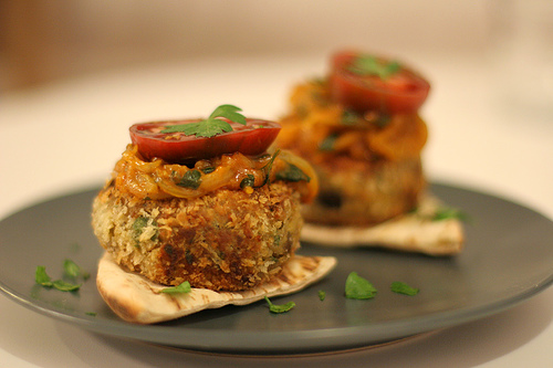 Eggplant Croquettes with Onion Relish