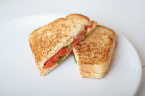 Grilled Cheese with Chipotle White Cheddar