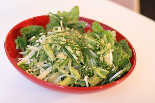 Romaine Salad with Avocado & Chayote