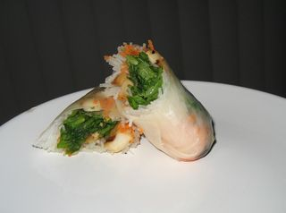 King Oyster Mushroom Spring Rolls